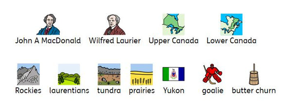 Symbols Canadian Vocabulary
