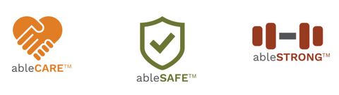 ablenet ablesafe ablestrong ablecare banner