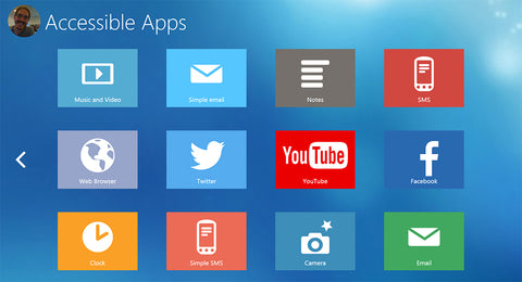 A wide range of accessible apps exist in the Grid 3