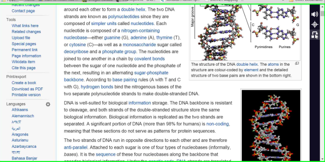 DNA Wiki with S&Ru extension tool-bar