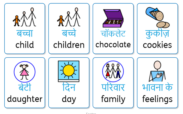 widgit online vocab populate mothersday hindi canada translate