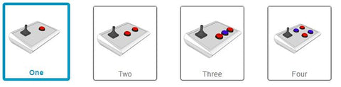 Select the number of buttons you'd like included with your BJOY Stick A
