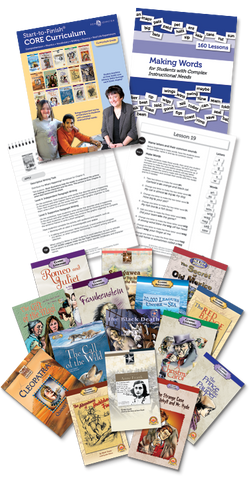 Resources and books included with Start-to-Finish Core Curriculum