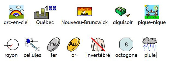 Symbols French Canadian Vocabulary