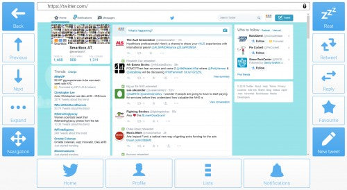 Twitter integration in Grid 3