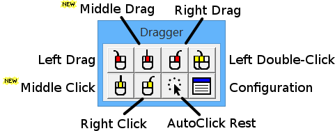 Dragger -- Mouse Button Utility for Windows
