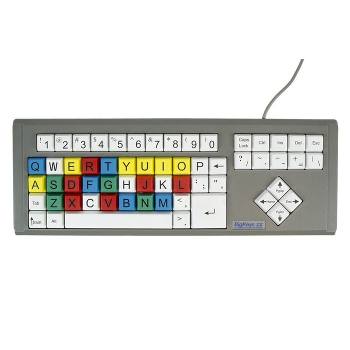 BigKeys LX QWERTY-Colour, White, Yellow, Black,
