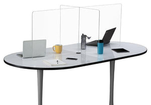 Multi-workstation Clear Tabletop Screen - Bridges Canada