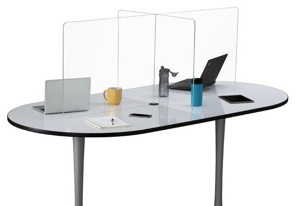 Multi-workstation Clear Tabletop Screen