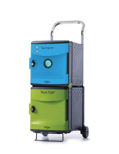 Tech Tub2 Trolley with UV Tub - charges 6 devices