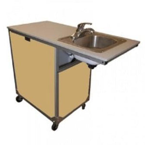 Toddler ADA Stainless Steel Portable Sink -Maple (accommodates wheelchair) - Bridges Canada