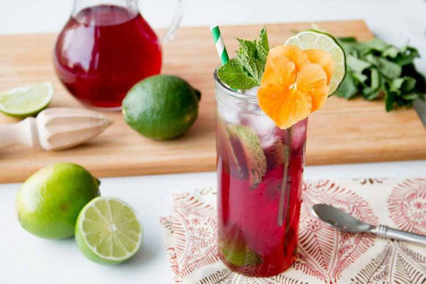 Organic Hibiscus Lime Hops Probiotic Soda (OKC/Tulsa Delivery Only)-ProPop Sodas-Jared's Probiotics