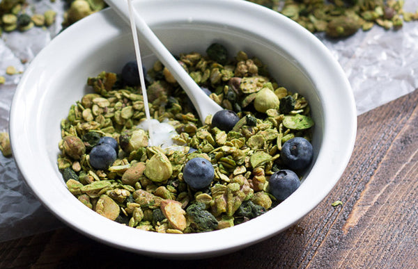Matcha Blueberry Probiotic Granola
