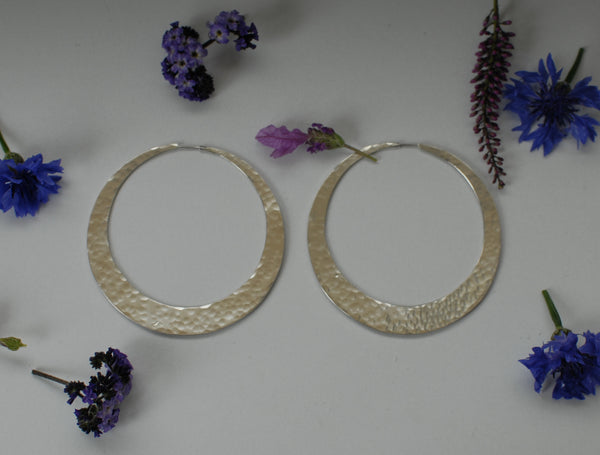 Super sized hoop earrings