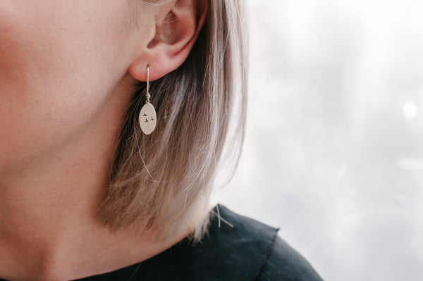 Flock oval earrings
