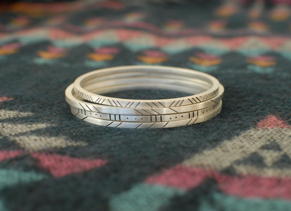Aztec stacker bangles (Thick)