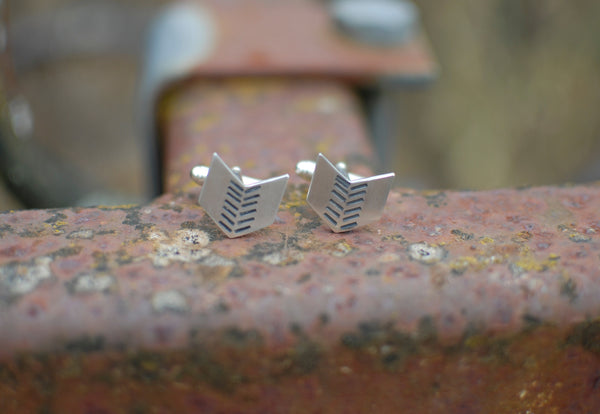 Aztec chevron cufflinks