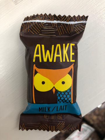 Awake Milk Chocolate 1 bite