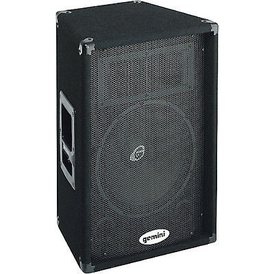 "Secondhand Gemini GT-1202 12"" Carpeted Passive Speaker Black 100w RMS - Macsound Electronics & Theatrical Supplies"