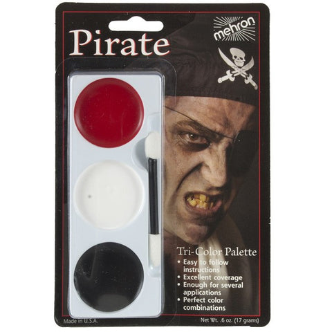 Mehron Tri-Colour Make Up Palette - Pirate