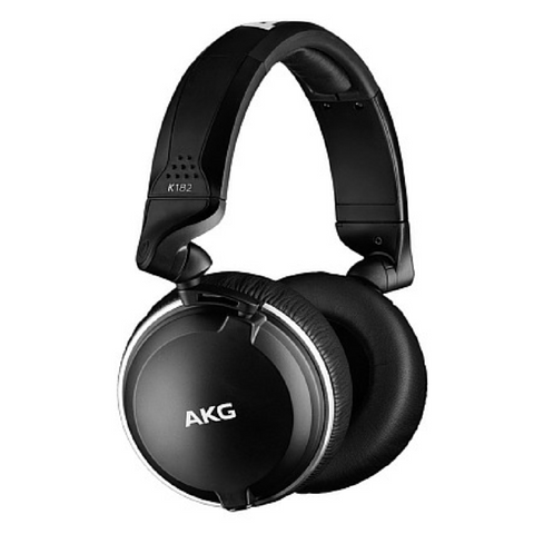 AKG K182 Professional Closed-Back Monitor Headphones - Macsound Electronics & Theatrical Supplies