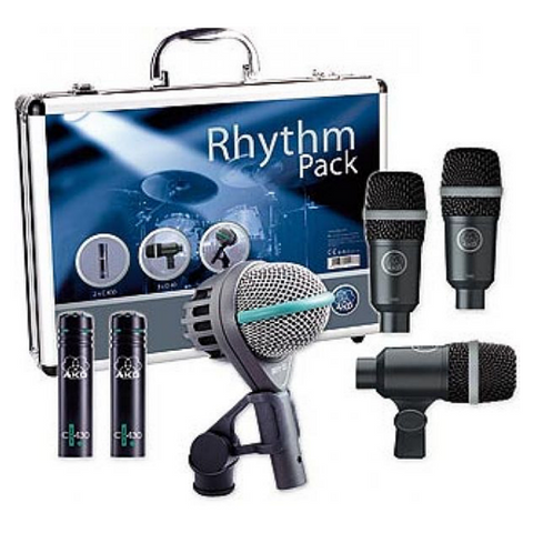 AKG Rhythm Pack Professional Drum Microphone Set - Macsound Electronics & Theatrical Supplies