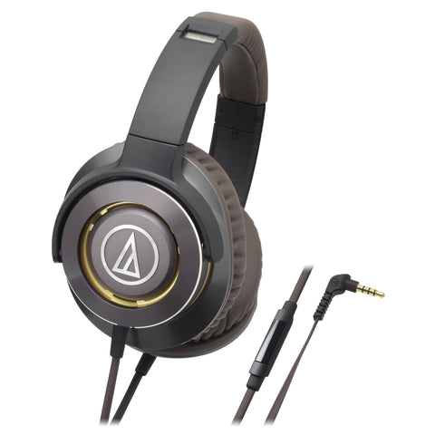 Audio Technica ATH-WS770iS Solid Bass Headphones with Smartphone Control - Macsound Electronics & Theatrical Supplies