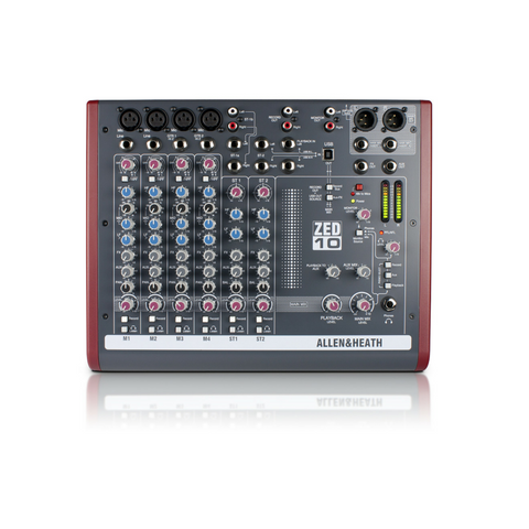 Allen & Heath ZED-10 Mixer - Macsound Electronics & Theatrical Supplies