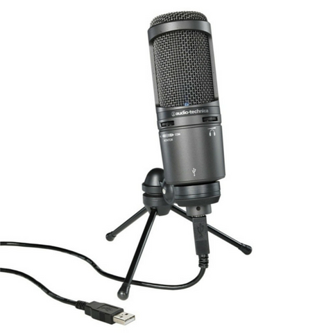 Audio Technica AT2020-USB+ USB Cardioid Condenser Microphone - Macsound Electronics & Theatrical Supplies