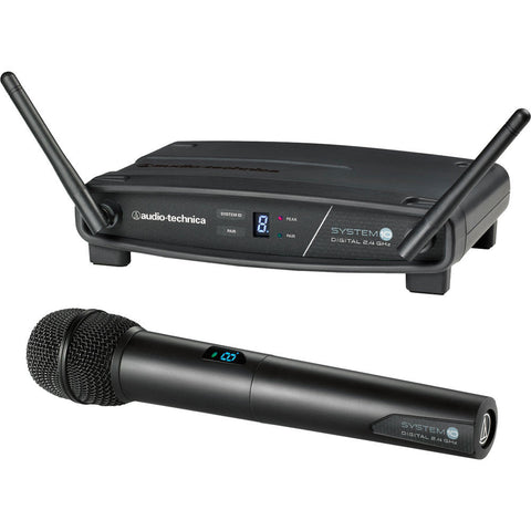 Audio Technica ATW-1102 System10 2.4GHz Digital Wireless Handheld System - Macsound Electronics & Theatrical Supplies
