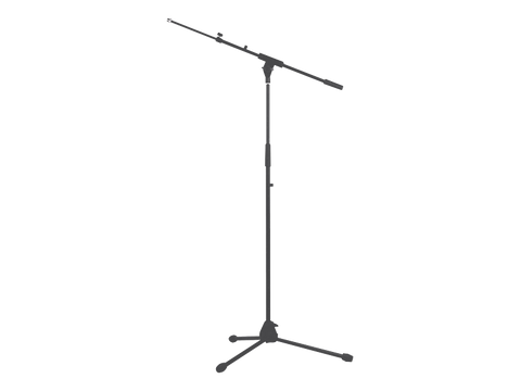 Australian Monitor ATC203 Tripod Microphone Stand with Telescopic Boom Arm - Macsound Electronics & Theatrical Supplies