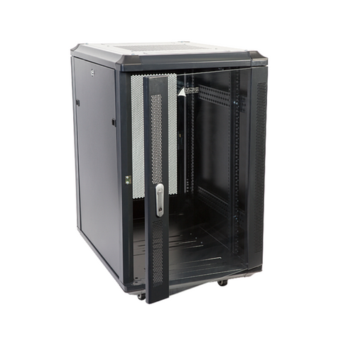 Australian Monitor INT18 Installation Equipment Rack 18RU Floor Standing 800mm deep - Macsound Electronics & Theatrical Supplies