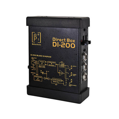 Beta3 DI-200 Active Direct Injection Box - Macsound Electronics & Theatrical Supplies
