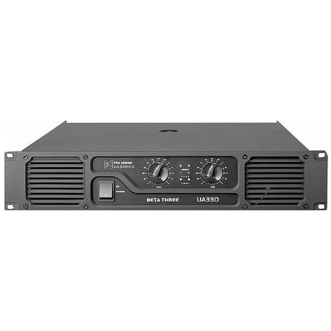 Beta3 UA330 2 Channel Professional Power Amplifier 2x160W/8ohm - Macsound Electronics & Theatrical Supplies