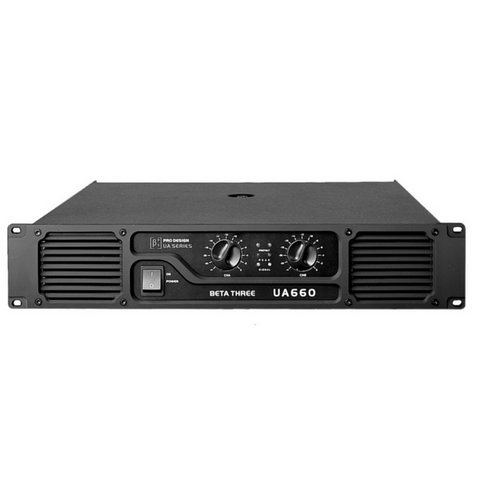 Beta3 UA660 2 Channel Professional Power Amplifier 2x330W/8ohm - Macsound Electronics & Theatrical Supplies