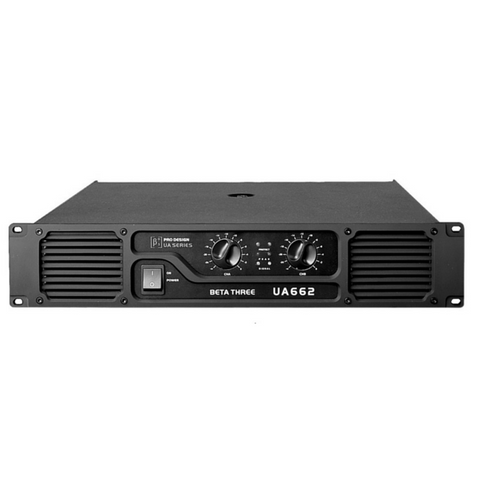 Beta3 UA662 2 Channel Professional Power Amplifier 2x330W/4ohm - Macsound Electronics & Theatrical Supplies