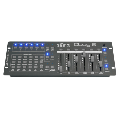 Chauvet DJ OBEY6 6 Channel DMX Controller - Macsound Electronics & Theatrical Supplies