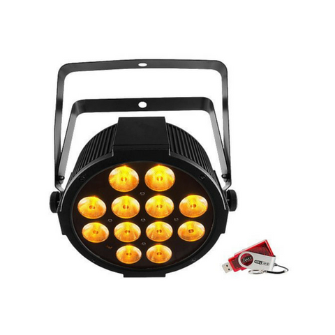 Chauvet DJ SlimPAR Q12 USB 12x 4-In-1 4W QUAD LEDs with USB D-Fi Compatibility - Macsound Electronics & Theatrical Supplies