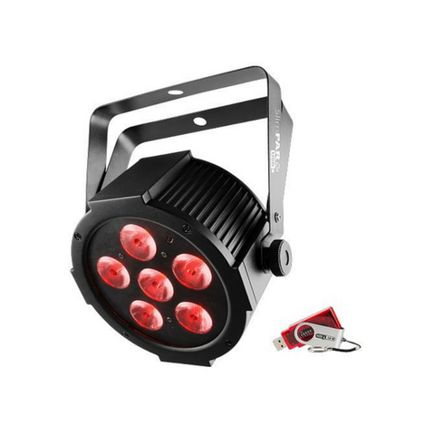 Chauvet DJ SlimPAR Q6 USB 6x 4-In-1 4W QUAD LEDs With USB D-Fi Compatibility - Macsound Electronics & Theatrical Supplies