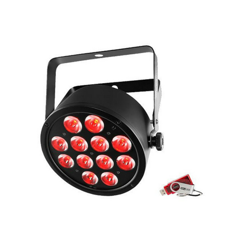 Chauvet DJ SlimPAR T12 USB 12x 3-In-1 3W TRI LEDs With USB D-Fi Compatibility - Macsound Electronics & Theatrical Supplies