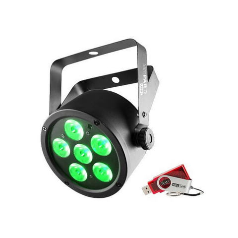 Chauvet DJ SlimPAR T6 USB 6x 3-In-1 3W TRI LEDs With USB D-Fi Compatibility - Macsound Electronics & Theatrical Supplies