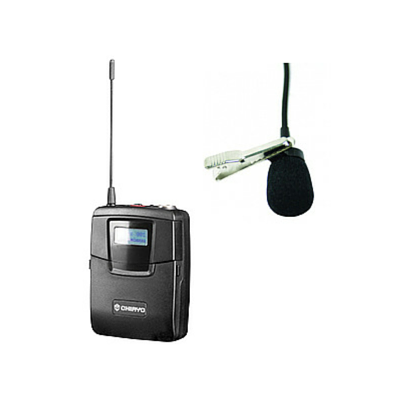 Chiayo SM6100/MC16 Bodypack Transmitter with Lapel Microphone - Macsound Electronics & Theatrical Supplies