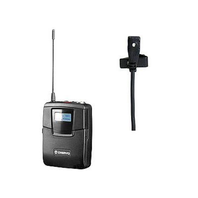 Chiayo SM6100/MC520 Bodypack Transmitter with Lapel Microphone - Macsound Electronics & Theatrical Supplies