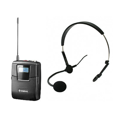 Chiayo SM6100/MC72 Bodypack Transmitter with Head Worn Microphone - Macsound Electronics & Theatrical Supplies