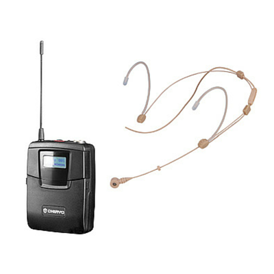 Chiayo SM6100/NHS777 Bodypack Transmitter with Head Worn Microphone - Macsound Electronics & Theatrical Supplies