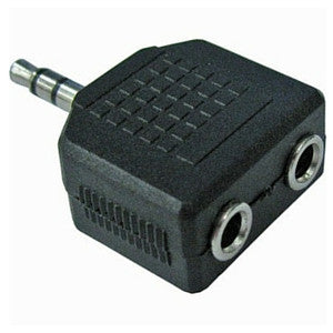 Daichi AD1210 3.5mm Stereo Plug to 2 x 3.5mm Stereo Sockets Connector - Macsound Electronics & Theatrical Supplies