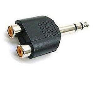 Daichi AD2130 6.3mm Mono Plug to 2 x RCA Socket Connector - Macsound Electronics & Theatrical Supplies