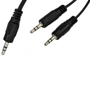 Daichi AL724 3.5mm Stereo Plug to 2 x 3.5mm Plugs 1.2m - Macsound Electronics & Theatrical Supplies