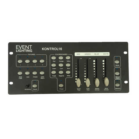 Event Lighting KONTROL16 4 x RGBW Fixture DMX Controller
