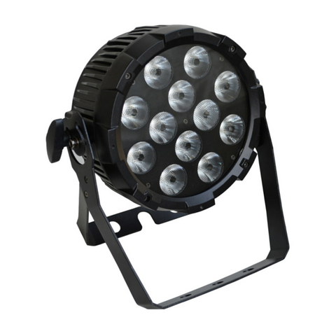 Event Lighting PARRGBWAUV12X12 LED Par Light 12 x 12w RGBWAUV - Macsound Electronics & Theatrical Supplies